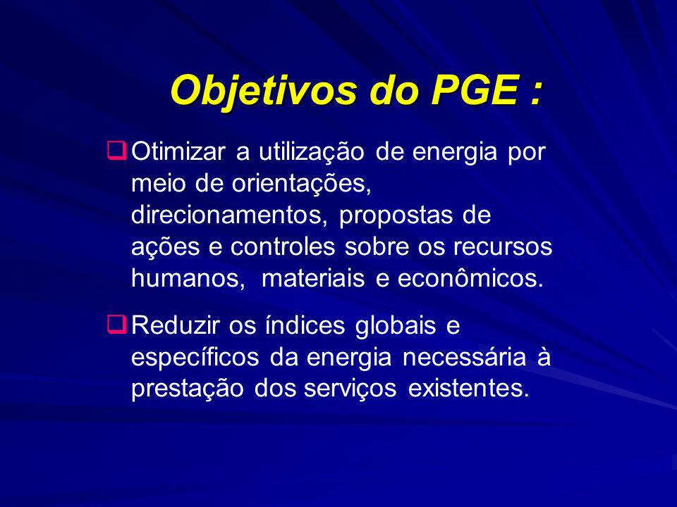 Objetivos do PGE :
