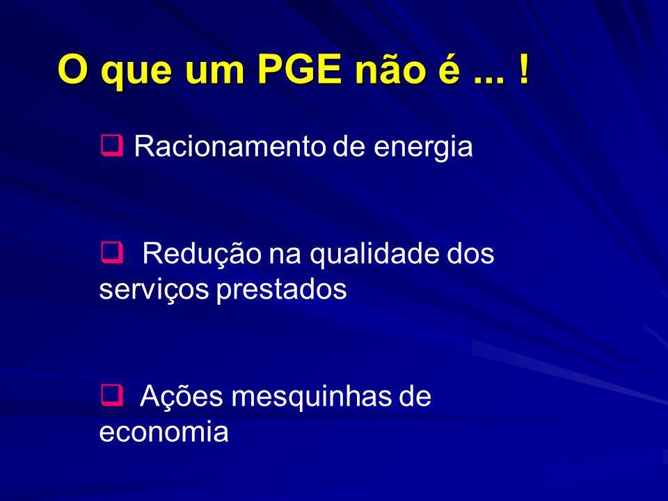 O que um PGE não é ... ! Racionamento de energia