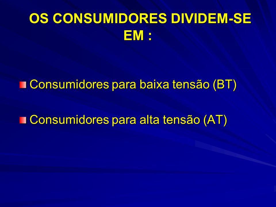 OS CONSUMIDORES DIVIDEM-SE EM :