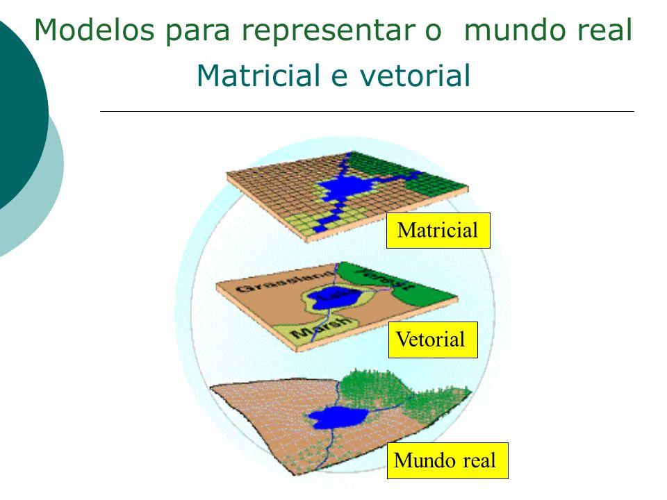 Modelos para representar o mundo real Matricial e vetorial