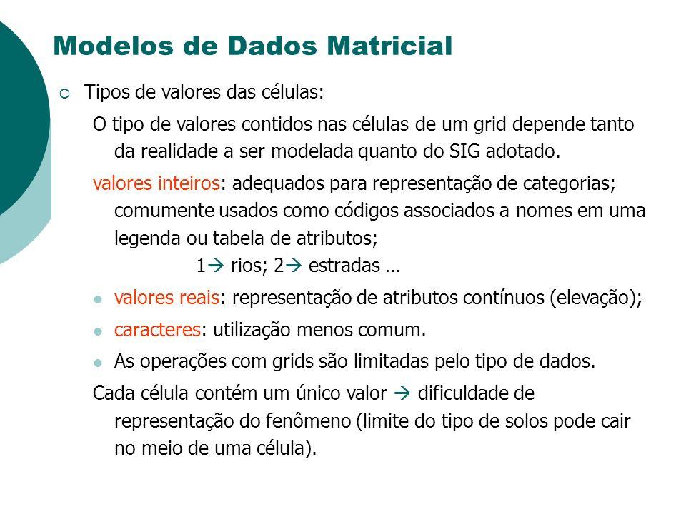 Modelos de Dados Matricial