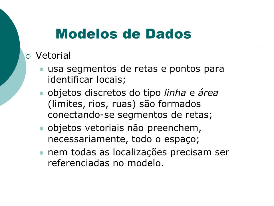 Modelos de Dados Vetorial