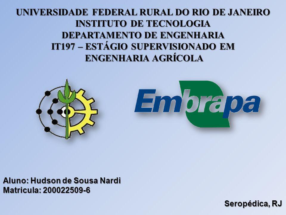UNIVERSIDADE FEDERAL RURAL DO RIO DE JANEIRO INSTITUTO DE TECNOLOGIA