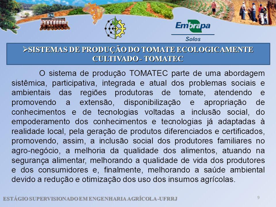 SISTEMAS DE PRODUÇÃO DO TOMATE ECOLOGICAMENTE CULTIVADO - TOMATEC