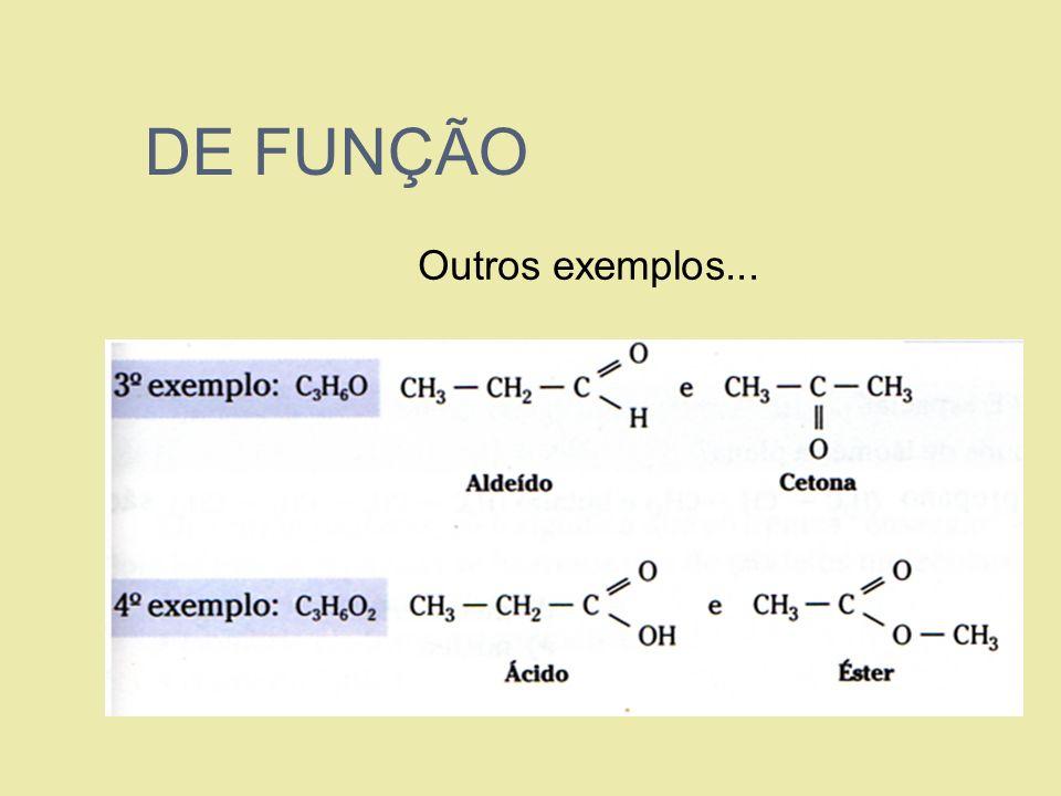 DE FUNÇÃO Outros exemplos...