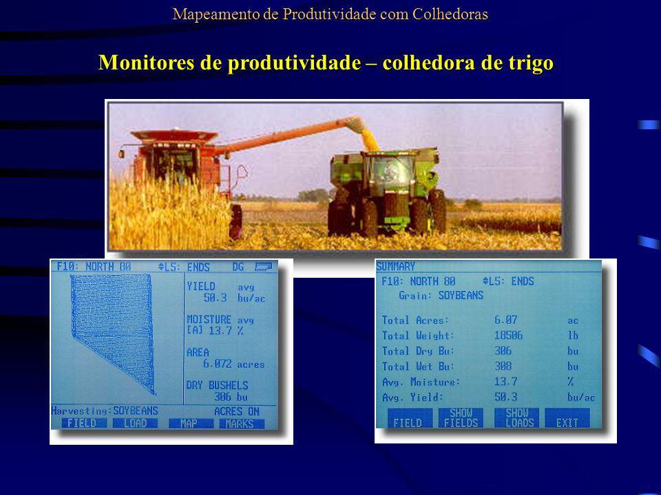 Monitores de produtividade – colhedora de trigo