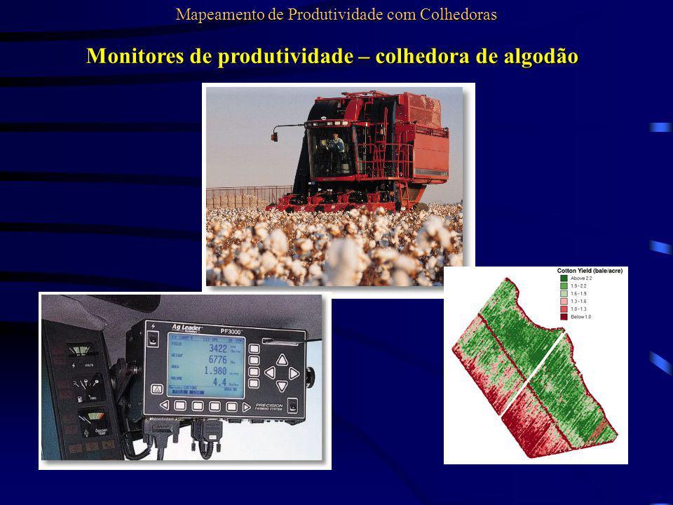 Monitores de produtividade – colhedora de algodão