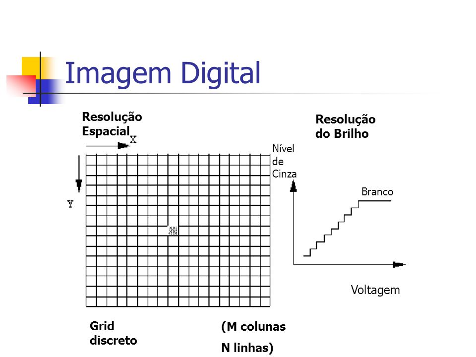 Imagem Digital Resolução Espacial Resolução do Brilho Voltagem