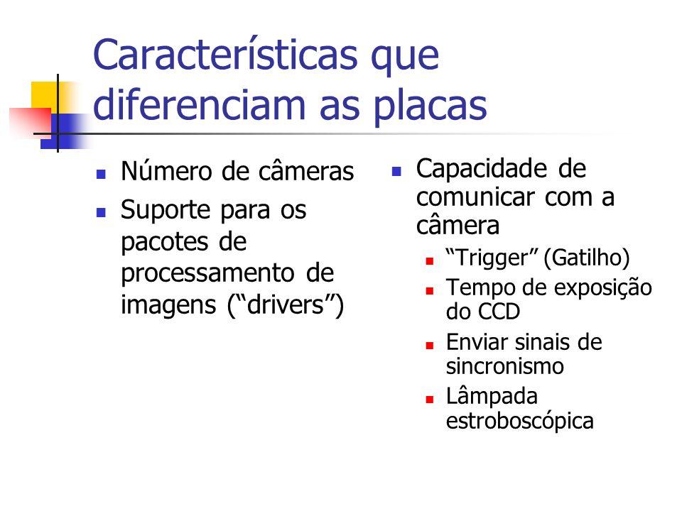 Características que diferenciam as placas