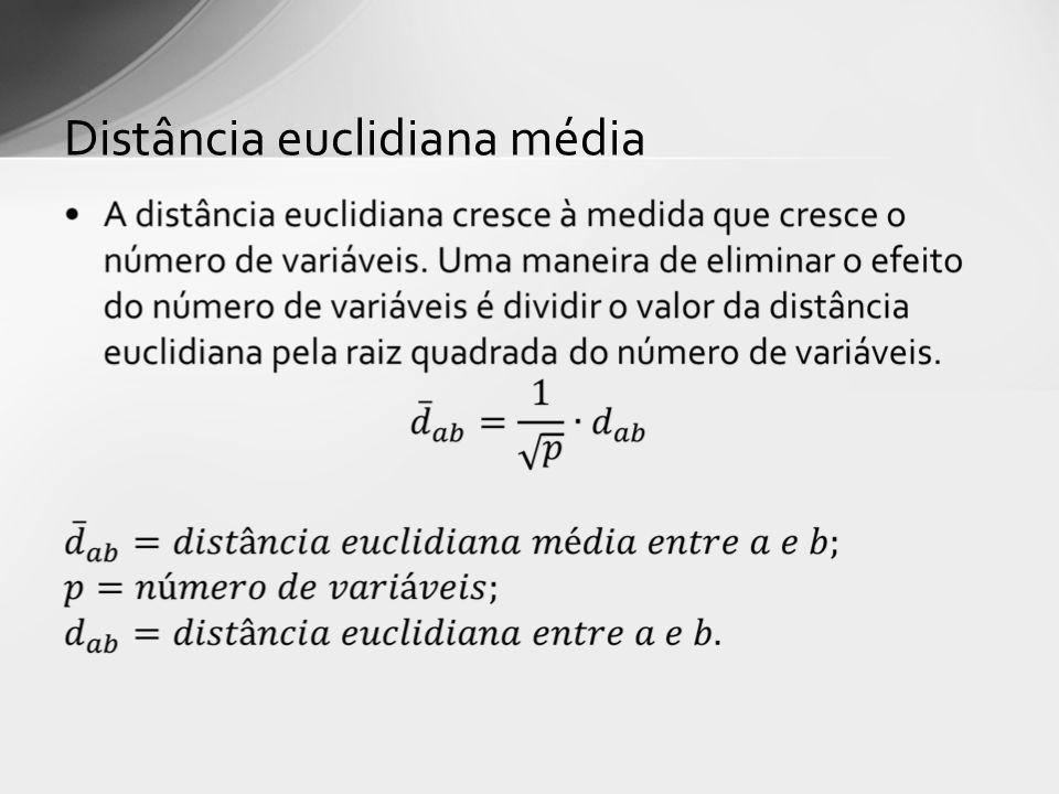 Distância euclidiana média