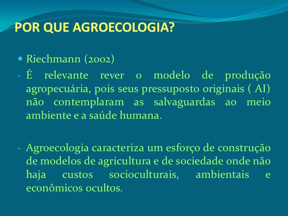 POR QUE AGROECOLOGIA Riechmann (2002)