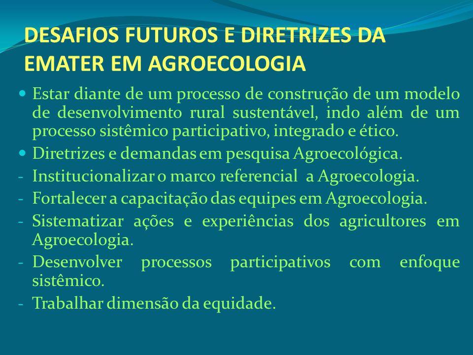 DESAFIOS FUTUROS E DIRETRIZES DA EMATER EM AGROECOLOGIA