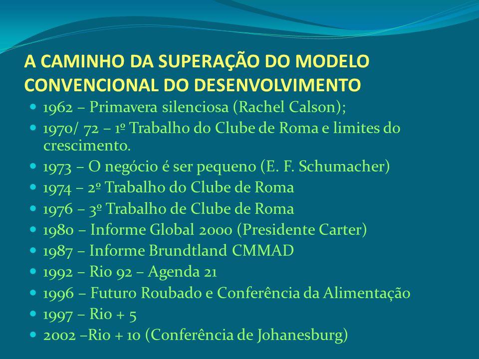 A CAMINHO DA SUPERAÇÃO DO MODELO CONVENCIONAL DO DESENVOLVIMENTO