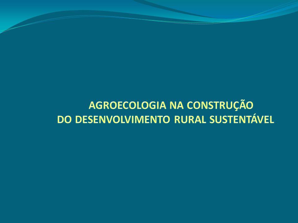 AGROECOLOGIA NA CONSTRUÇÃO
