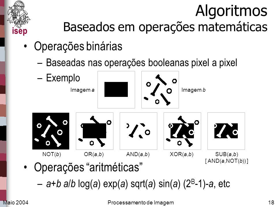 Algoritmos Baseados em operações matemáticas
