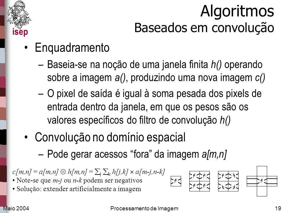 Algoritmos Baseados em convolução