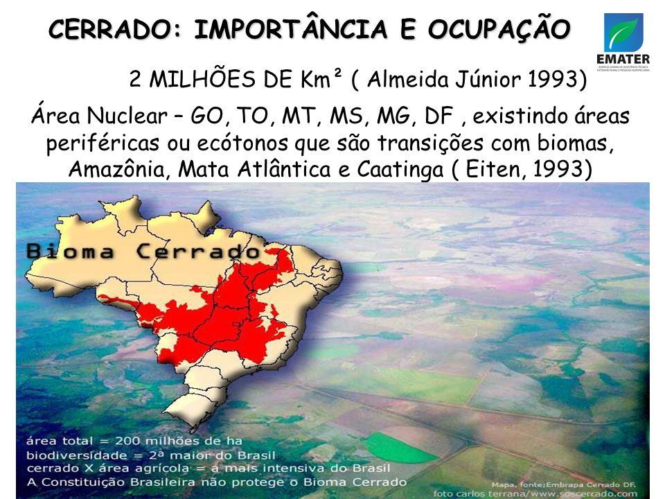 2 MILHÕES DE Km² ( Almeida Júnior 1993)
