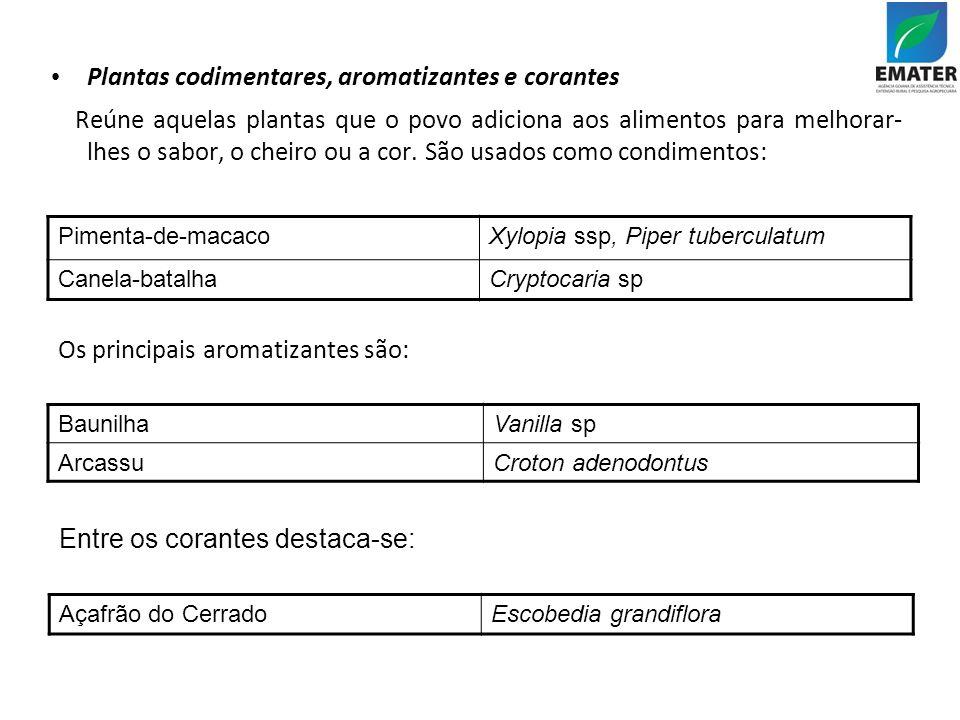 Os principais aromatizantes são: