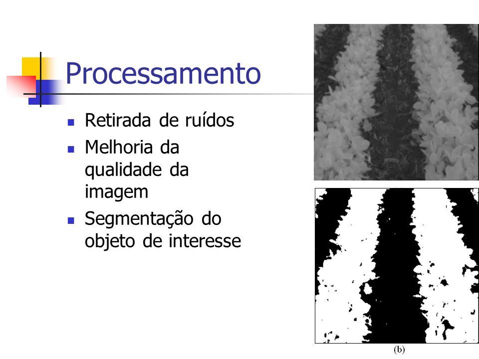 Processamento Retirada de ruídos Melhoria da qualidade da imagem