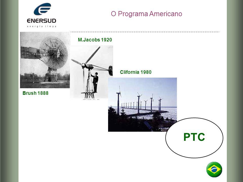 O Programa Americano M.Jacobs 1920 Clifornia 1980 Brush 1888 PTC