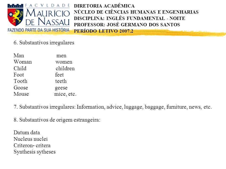 6. Substantivos irregulares