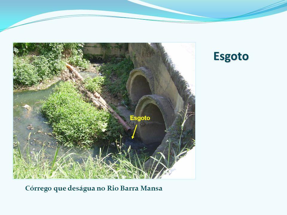 Córrego que deságua no Rio Barra Mansa