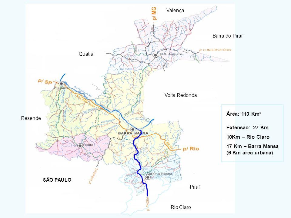 17 Km – Barra Mansa (6 Km área urbana)