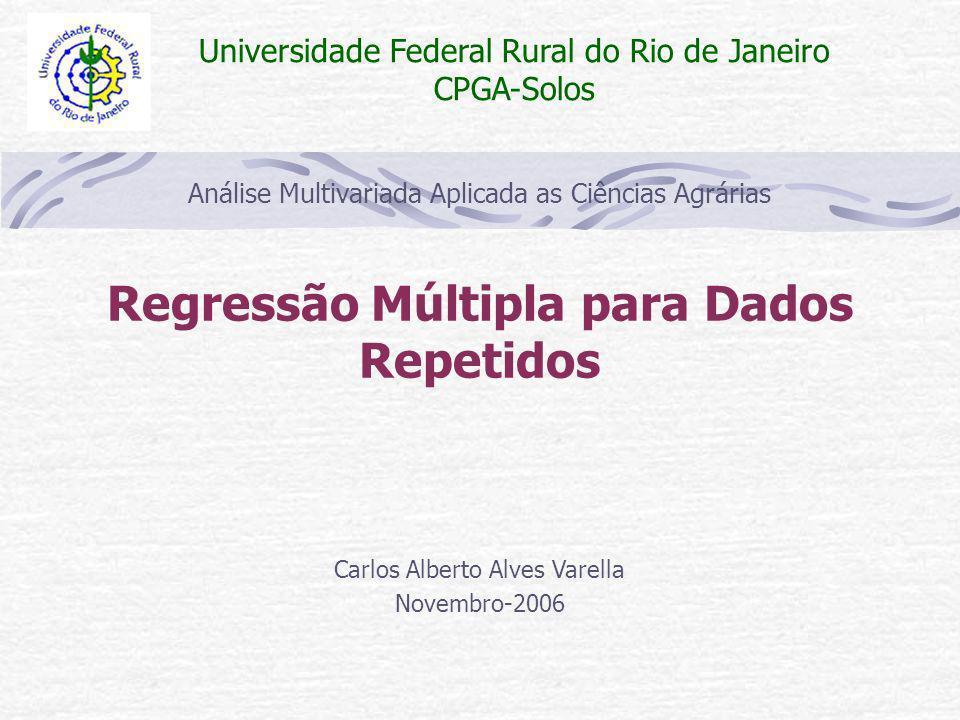 Regressão Múltipla para Dados Repetidos