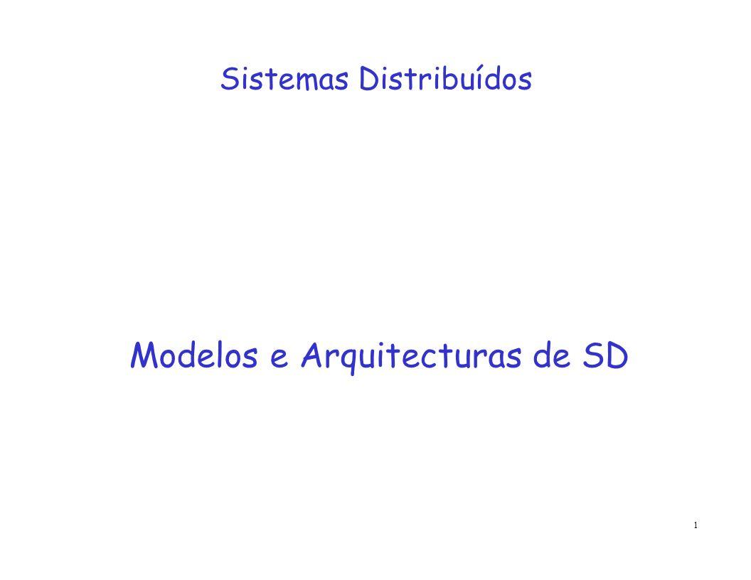 Modelos e Arquitecturas de SD