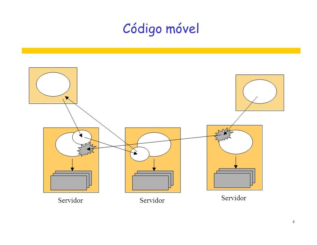 Código móvel Servidor Servidor Servidor 6