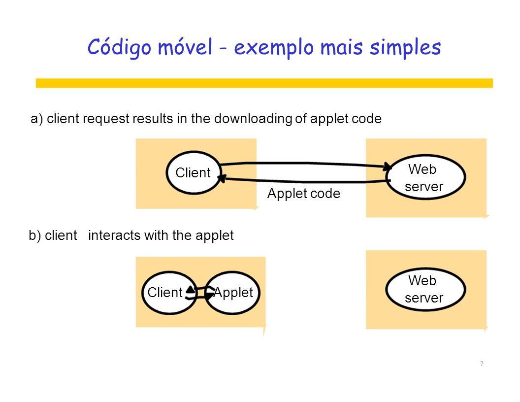 Código móvel - exemplo mais simples
