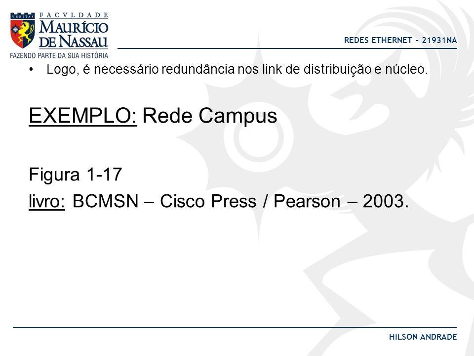 EXEMPLO: Rede Campus Figura 1-17