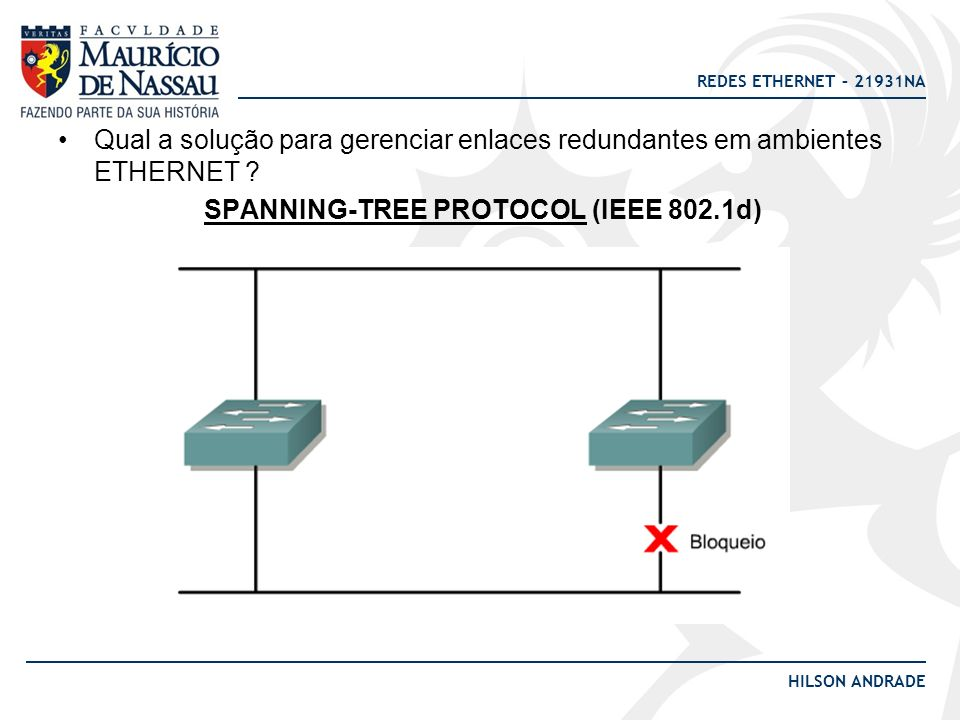 SPANNING-TREE PROTOCOL (IEEE 802.1d)