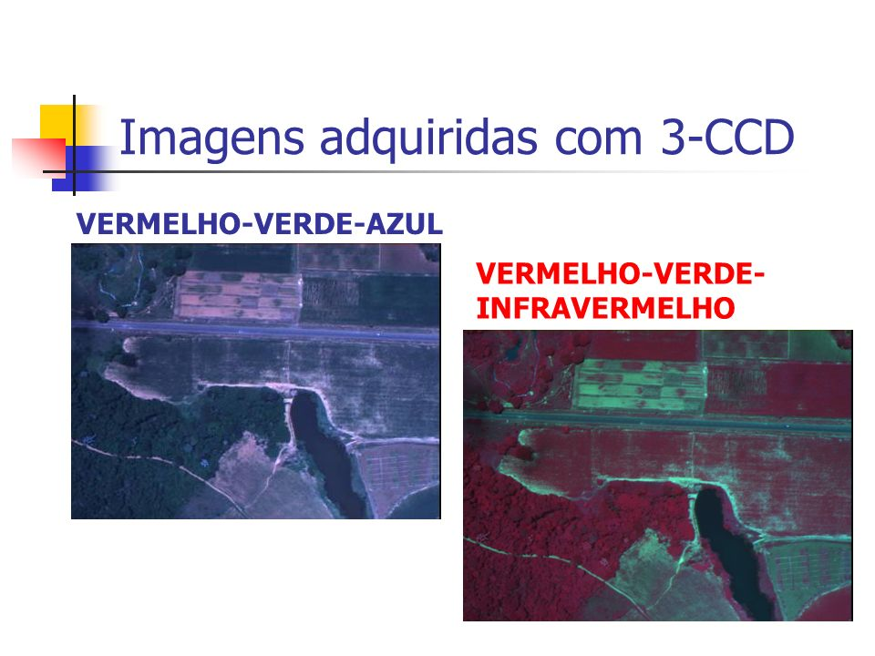 Imagens adquiridas com 3-CCD