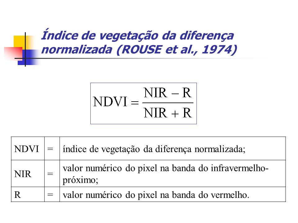 Índice de vegetação da diferença normalizada (ROUSE et al., 1974)