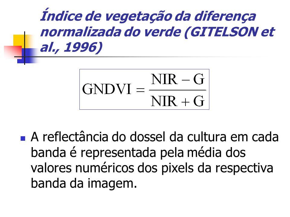 Índice de vegetação da diferença normalizada do verde (GITELSON et al