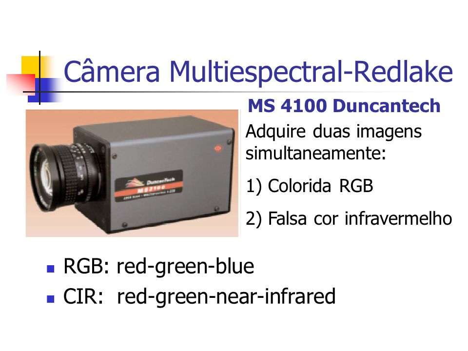 Câmera Multiespectral-Redlake