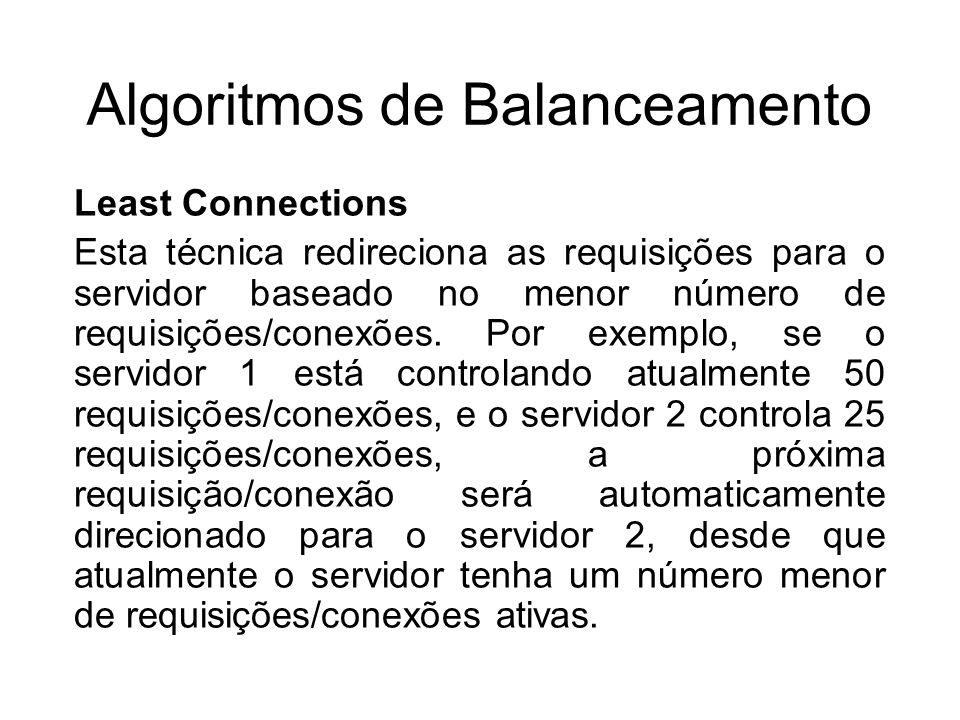 Algoritmos de Balanceamento
