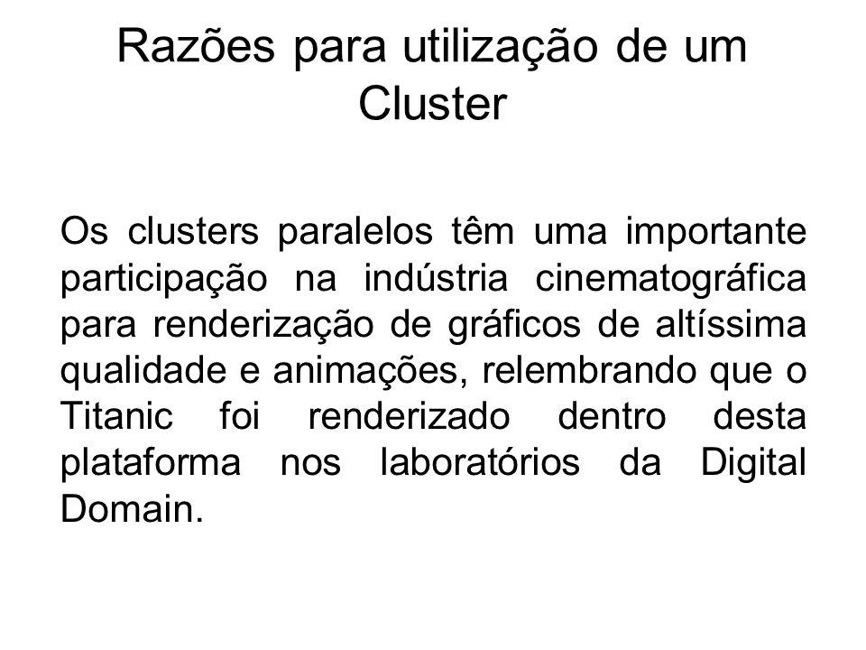 Razões para utilização de um Cluster