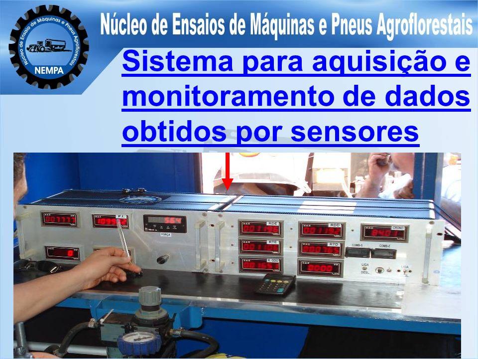 Sistema para aquisição e monitoramento de dados obtidos por sensores