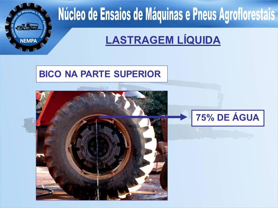 LASTRAGEM LÍQUIDA BICO NA PARTE SUPERIOR 75% DE ÁGUA