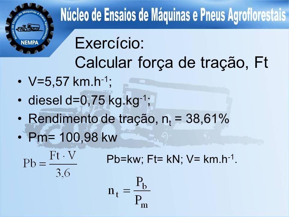 Exercício: Calcular força de tração, Ft