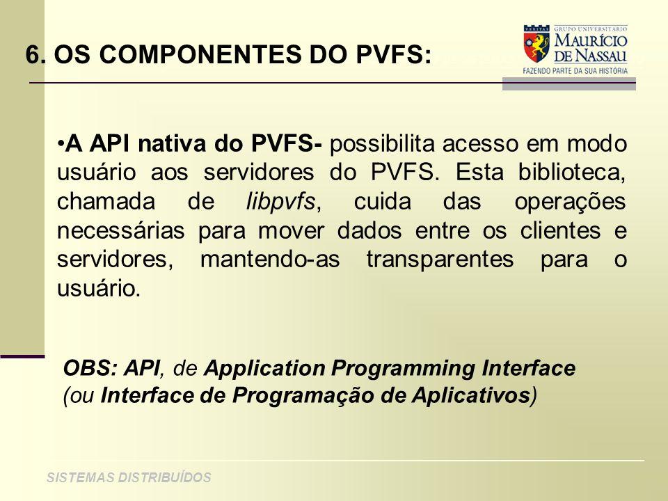 6. OS COMPONENTES DO PVFS: