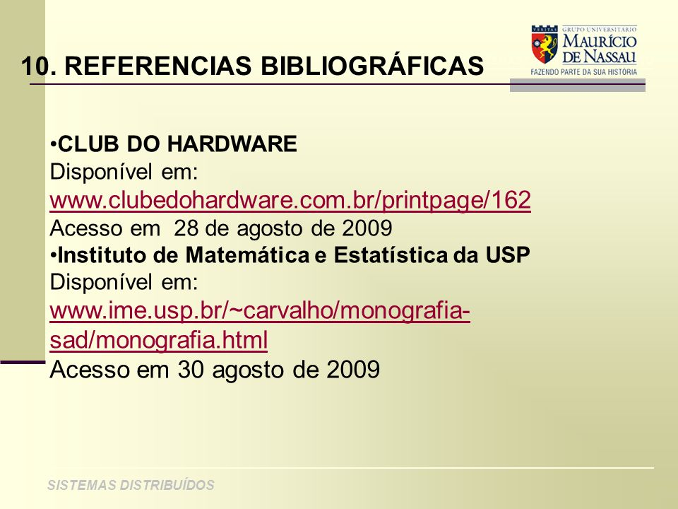 10. REFERENCIAS BIBLIOGRÁFICAS