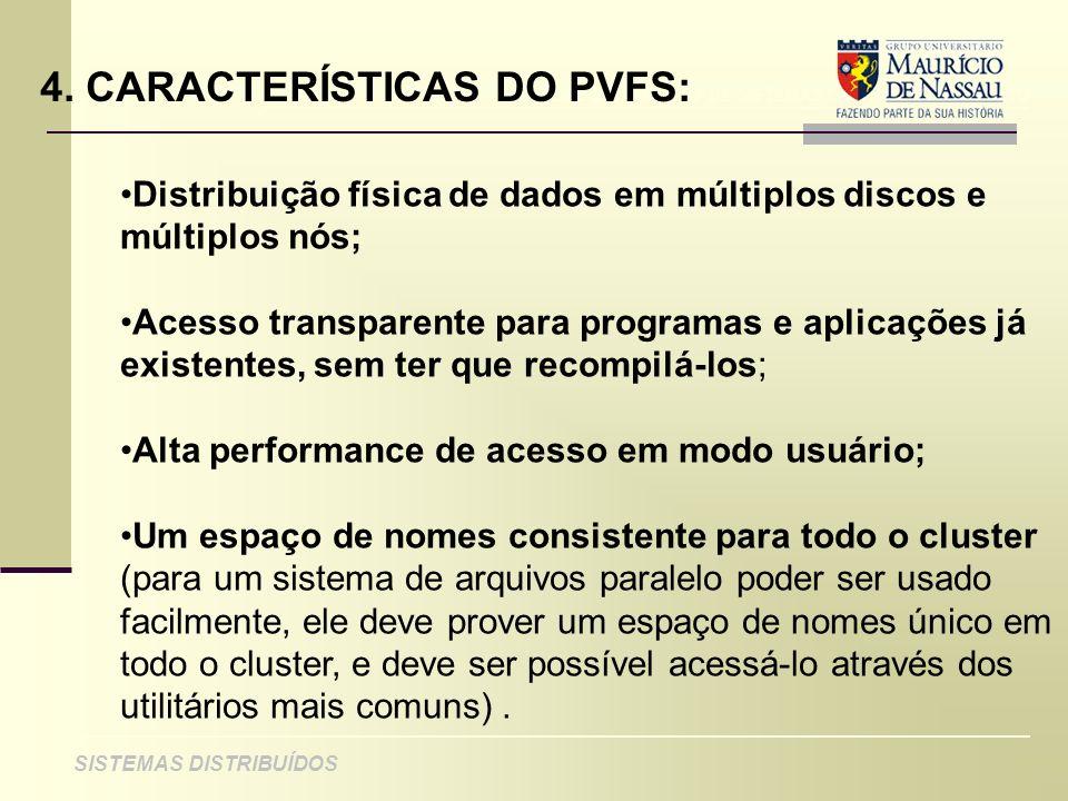 4. CARACTERÍSTICAS DO PVFS:
