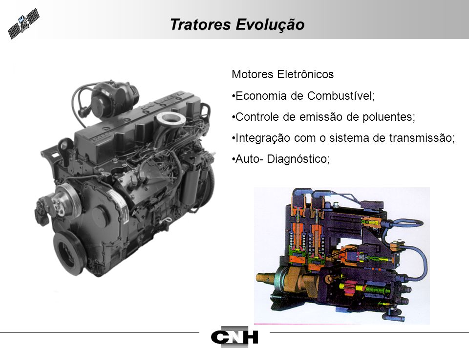 Tratores Evolução Motores Eletrônicos Economia de Combustível;