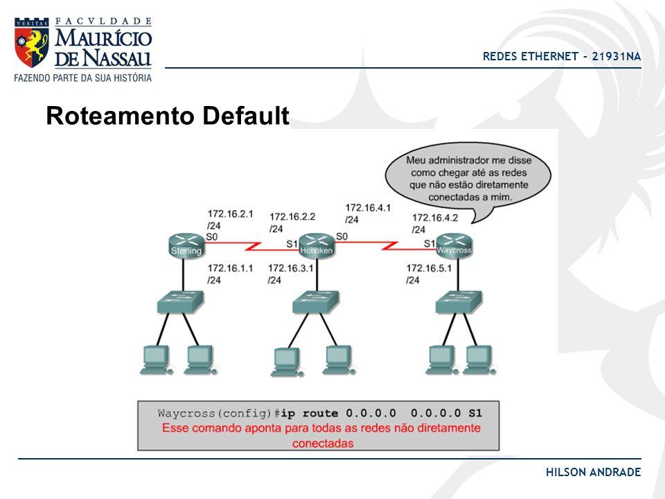 Roteamento Default