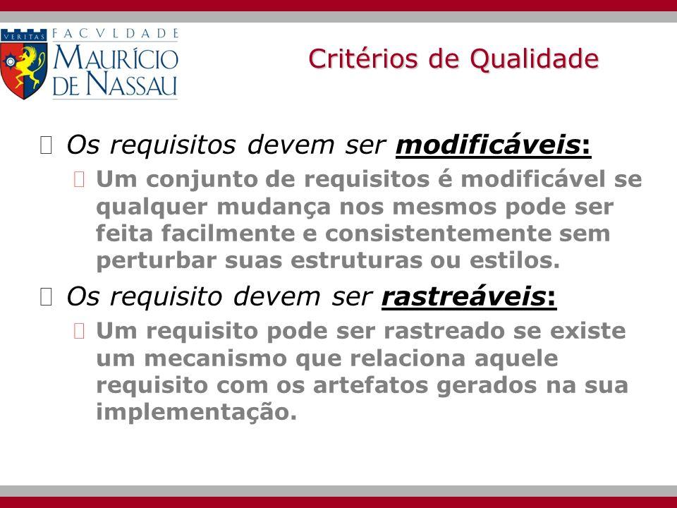 Critérios de Qualidade