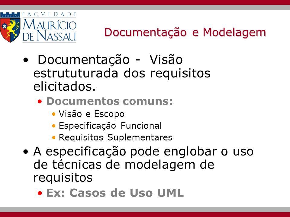 Documentação e Modelagem