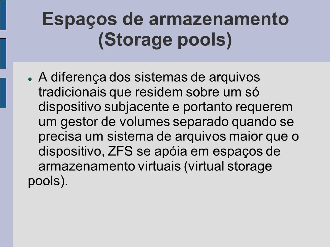 Espaços de armazenamento (Storage pools)